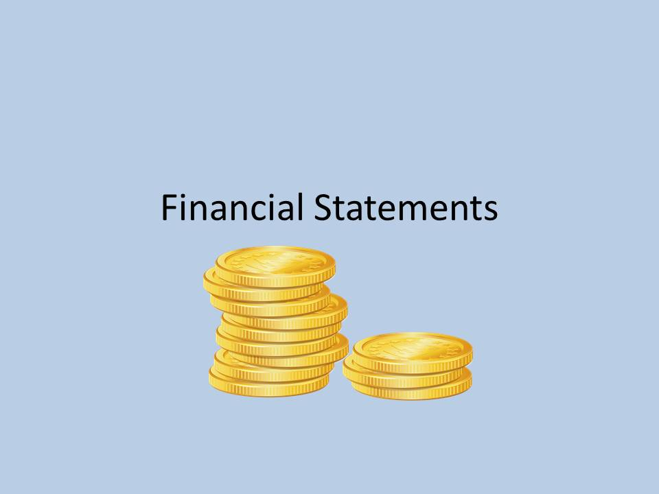 Financial Statements Button
